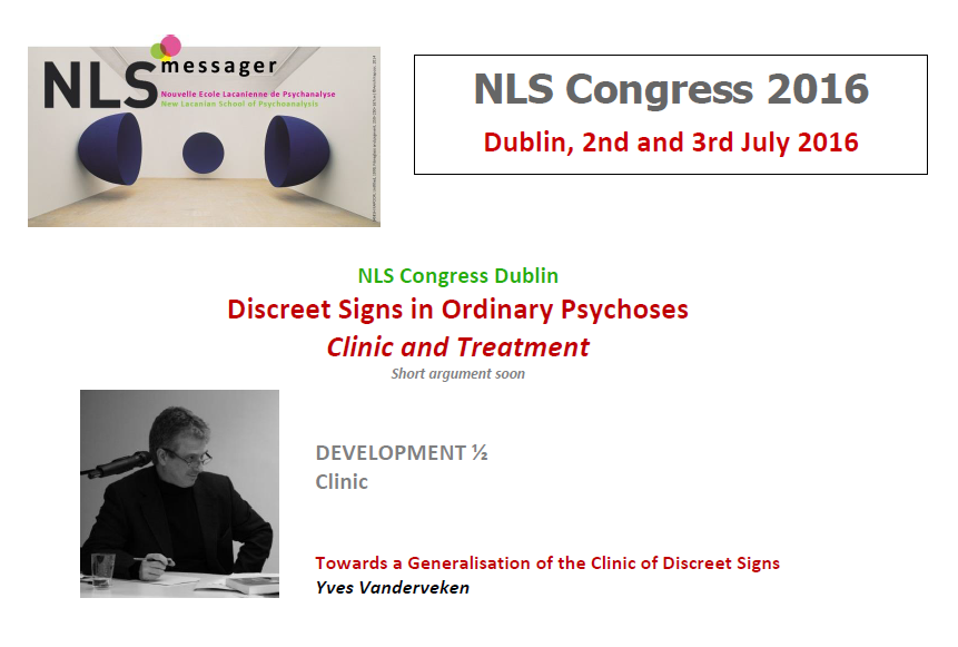 NLS - NLS Messager - New Lacanian School of Psychoanalysis